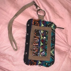 Earthbound Bohemian Suede Wristlet w ID holder